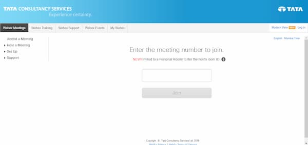 webex tcs login process